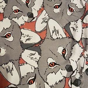 Wolf lularoe OS leggings